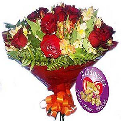 Buque de Flores com 12 Rosas
