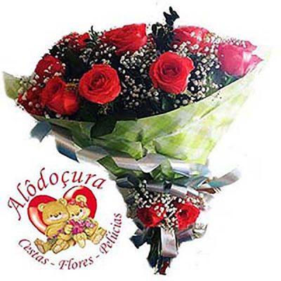 Buque de Flores com 20 Rosas