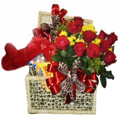 Baú de Flores Romântico 01