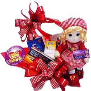 Boneca Musical e Chocolates