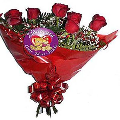 Buque de Flores com 6 Rosas