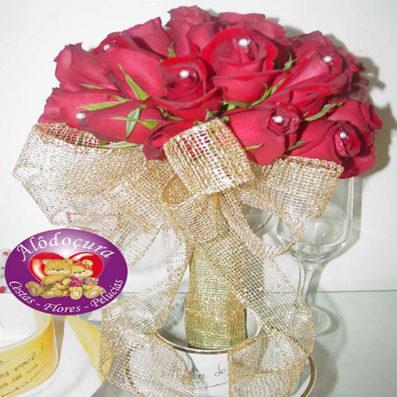 Buque de Noiva com 15 Rosas